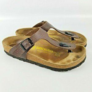 Birkenstock Gizeh Sandals 36 EU 5 US Brown Pebbled
